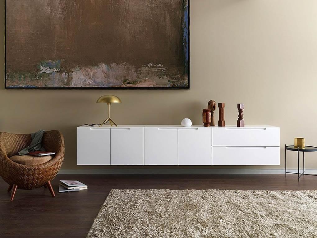 Подвесная немецкая мебель для гостиной бренда INTERLÜBKE